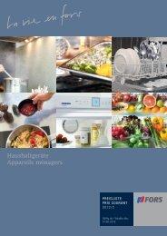 Preisliste 2012/2 (Haushalt) - Fors AG