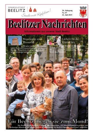 Beelitzer Nachrichten - Juli-August 2015