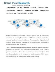 Acrylonitrile (ACN) Market Analysis, Growth, Trends To 2022: Grand View Research, Inc.
