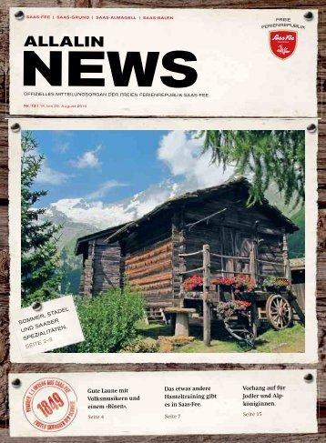 Allalin News Nr. 12 - SAAS-FEE   SAAS-GRUND   SAAS-ALMAGELL   SAAS-BALEN