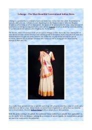 Lehenga - The Most Beautiful Conventional Indian Dress.pdf