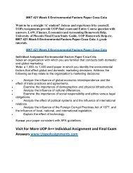 UOP Course Homework Help MKT 421 Week 5 Environmental Factors Paper Coca Cola