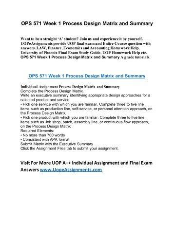 mccord homework matrix