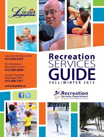 Loyalist Township Fall & Winter Recreation Services Guide