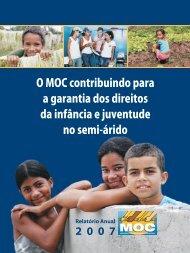 Relatórios - O MOC contribuindo para os direitos da infância e da juventude no semi-árido