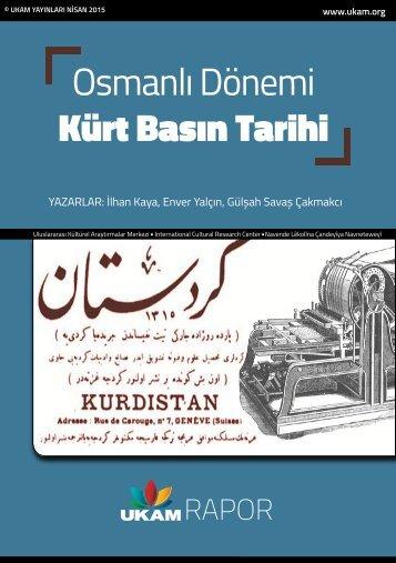 Osmanlı Dönemi Kürt Basın Tarihi