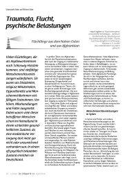 Traumata, Flucht, psychische Belastungen - Flüchtlingsrat ...