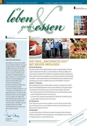 """""""nachhaltig gut"""" mit neuen impulsen - bei der Frank Schwarz Gastro ..."""