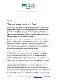 """Pilotprojekt """"multiprofessionelles Team"""" - GDA Gemeinschaft ..."""