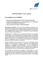 PRESSEMITTEILUNG Feri beteiligt sich an ... - Feri Trust GmbH