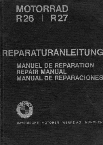 BMW R26 & R27 Repair Manual - klassiekrijden.nu