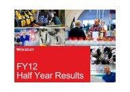 FY12 Half Year Results