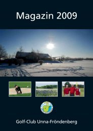 Magazin als Download - Golf Club Unna-Fröndenberg e.V.
