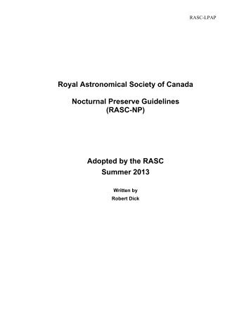 RASC-NP - The Royal Astronomical Society of Canada
