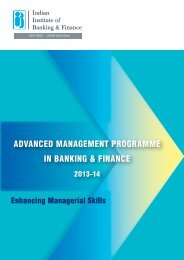 ADVANCED MANAGEMENT PROGRAMME IN BANKING & FINANCE