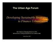 Developing Sustainable Strategies to Finance Urbanization