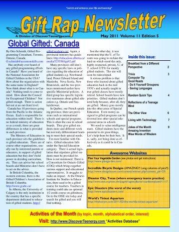 Volume 11 - Edition 5 May 2011 - DiscoverTeenergy.com