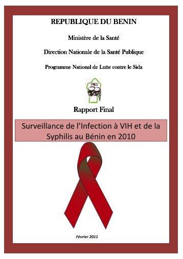 Surveillance de l'Infection à VIH et de la Syphilis au Bénin en 2010