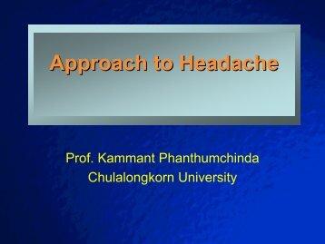 Approach to Headache
