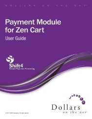 Payment Module for Zen Cart