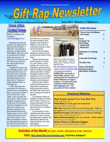 Volume 11 - Edition 6 June 2011 - DiscoverTeenergy.com