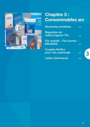 Chap.3 Consommables Arc - Saf-Fro