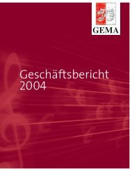 Bilanz zum 31. Dezember 2004 - Gema