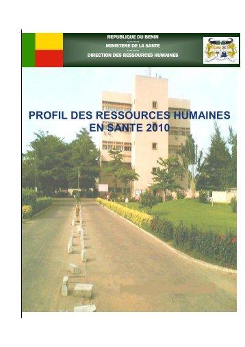 Profil des ressources humaines en santé - Ministère de la Santé