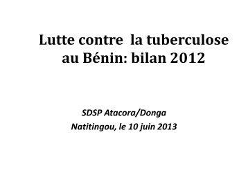 Lutte contre la tuberculose au Bénin bilan 2012