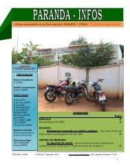 Revue trimestrielle N° 002 DU 1er Septembre 2011 de la Zone ...