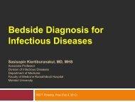 Sasisopin Kiertiburanakul, MD, MHS Division Of Infectious Diseases ...