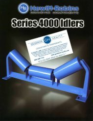 4000 Series CEMA E Idlers - Goodman-Hewitt