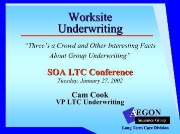 Worksite Underwriting