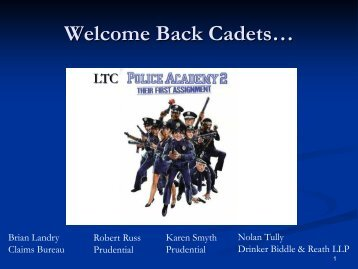 Welcome Back Cadets…