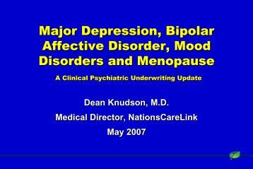Disorders and Menopause