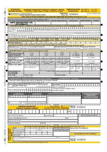 A4 Application Form Resident.pmd - HDFC Bank