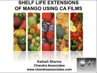 shelf life extensions of mango using ca films - Chandra Associates