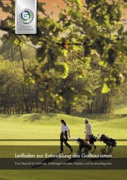 Leitfaden zur Entwicklung des Golftourismus - Golf.de