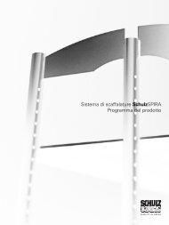 Sistema di scaffalature SchulzSPIRA Programma del prodotto