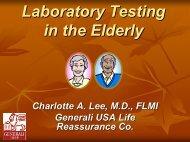Laboratory Testing in the Elderly