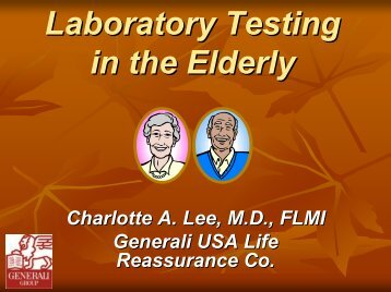 Laboratory Testing in the Elderly