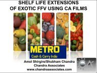shelf life extensions of exotic ffv using ca films - Chandra Associates