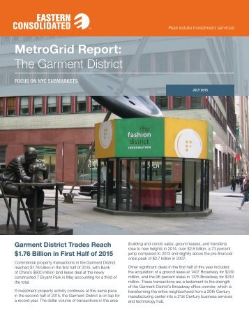 MetroGrid Report The Garment District