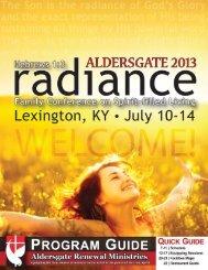 Aldersgate 2013 Program Guide