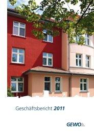 GE-WO Geschäftsbericht 2011 - GE-WO Gemeinnütziger ...