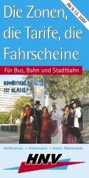 Die Zonen, die Tarife, die Fahrscheine - HNV - Heilbronner ...