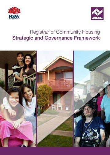 Registrar of Community Housing Strategic and Governance Framework