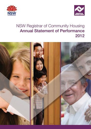 NSW Registrar of Community Housing Annual Statement of Performance 2012