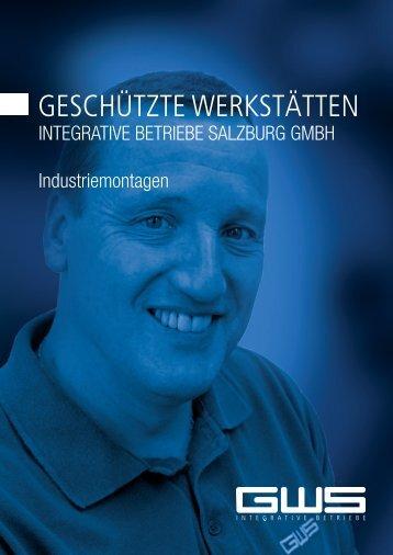 Geschützte Werkstätten Integrative Betriebe salzburg Gmbh ...