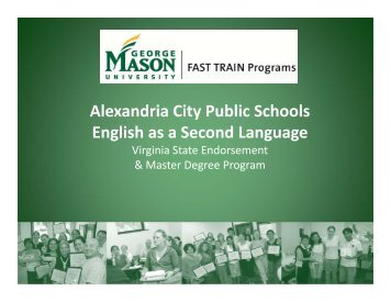 Alexandria City Public Schools English as a Second Language